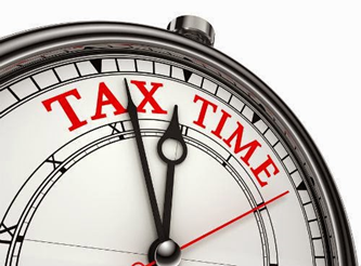 clock illustrating tax time